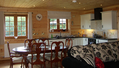 Lowfield Log Houses, Scarborough.Dining Area